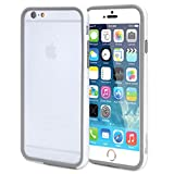 iPhone 6 Case - Poetic Apple iPhone 6 Case [Borderline Series] - TPU Hybrid Bumper Case for Apple iPhone 6 (4.7-inch) White/Gray