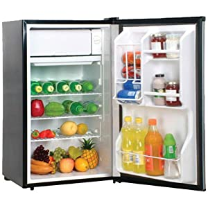 Magic Chef MCBR360S 3.6 Cubic Feet Refrigerator, Stainless