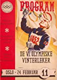 C1952 OLYMPIC GAMES De VI Olympiske Vinterleker OSLO, NORWAY WInter Olympics Souvenir Programme Cover Art 250gsm ART CARD Gloss A3 Reproduction Poster