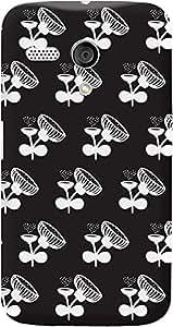 DailyObjects Black Poppy Flower Case For Motorola Moto G (Back Cover)