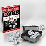 #1 Best Ice Ball Maker Mold - 4 Ice Balls ★ RiskFree Lifetime Money Back Guarantee by Home-Complete