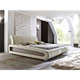 Polsterbett beige Bett 180x200 Bettgestell Kunstlederbett Singlebett Doppelbett Designerbett Blain