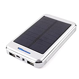 CALISTOUS 30000Mah Dual Usb Solar Power Battery Charger Bank Super Capacity Environment And Friendly White