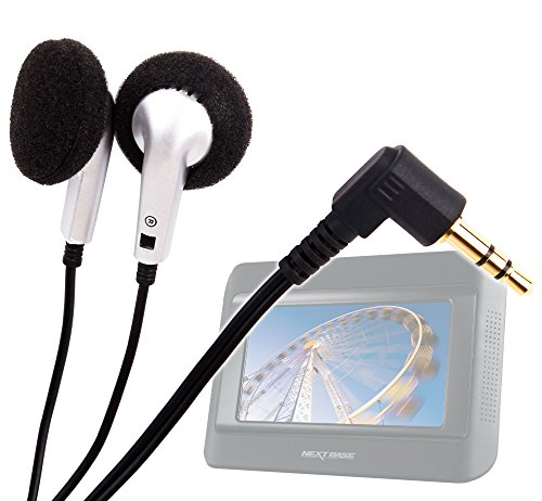 Duragadget Comfy In-Ear Design Headphones With Less Loss & Deep Bass For Nextbase Click & Go Click 7 Lite Duo Twin Screen Portable Dvd Player