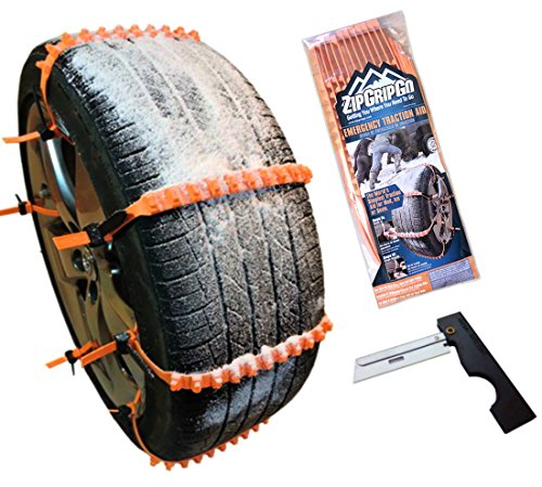Anti Slip Cleated Winter Tire Traction Aid - Emergency Snow Chain Alternative Car Truck Van SUV (Tires Zip Ties compare prices)
