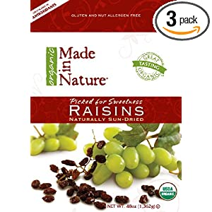 Made In Nature Organic Club Pack, Raisin, 48-Ounce (Pack of 3)