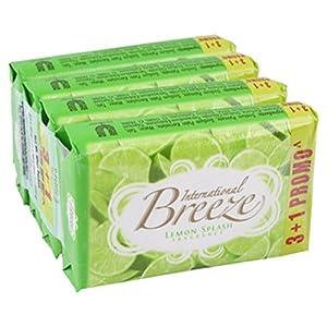 Breeze Lemon Splash Soap Bar 60gm (Pack of 4)