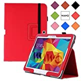 WAWO Samsung Galaxy Tab 4 10.1 Inch Tablet Smart Cover Creative Folio Case - Red