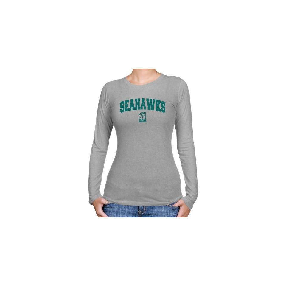 49394ac22 UNCW Seahawks T Shirt UNC Wilmington Seahawks Ladies Ash Logo Arch ...