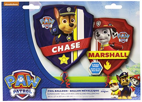 "Anagram International 3018201 Paw Patrol Shop Balloon Pack, 27"" - 1"