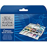 Winsor & Newton Cotman Water Color Pocket PLUS Set of 12 Half Pans