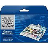 ウィンザー&ニュートン コットマン ウォーターカラー ハーフパン 12色セット ポケットボックス PLUSセット