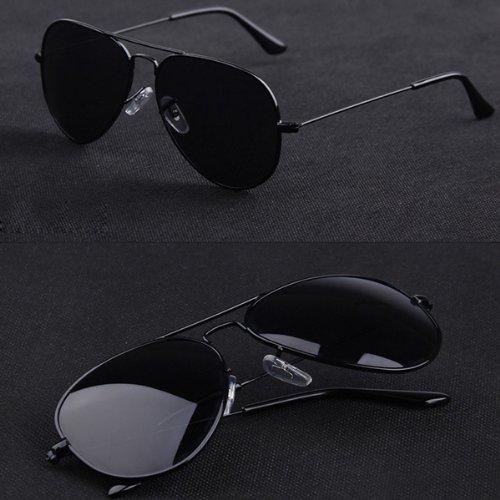 Mode Sonnenbrille für Damen und Herren,reflektierende Sonnenbrille,Gradientfarben (schwarz)