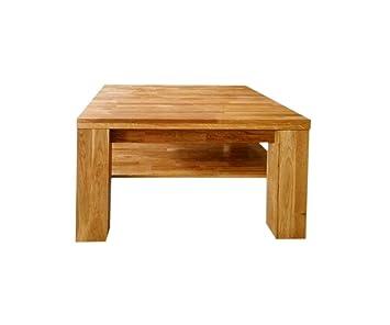 SAM® Stilvoller Couchtisch Ancona 17020 Tisch in Wildeiche massiv 80 x 80 cm naturlich geölte Oberfläche