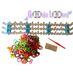[Best price] Arts & Crafts - GOODIE LOOMS- Colorful Rainbow Loom Band Kit- 80% OFF!! -The Only Kit on the Market with the Adjustable Loom and Glow In The Dark Bands- Glow in the Dark Bands, & Tool- Create Patterns As Seen Online & Youtube- Money Back Guarantee if