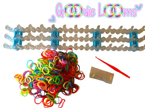 GOODIE LOOMS- Colorful Rainbow Loom Band Kit- 80% OFF!! -The Only Kit on the Market with the Adjustable Loom and Glow In The Dark Bands- Glow in the Dark Bands, & Tool- Create Patterns As Seen Online & Youtube- Money Back Guarantee if Not Satisfied