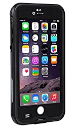 AOWOTO Waterproof Case for iPhone 6s Plus/iPhone 6 Plus 5.5 inch , Underwater Dirtpoof Shockproof Snowproof Sandproof Protection Cover Phone Cases for iPhone 6s Plus/6 Plus ( Black )