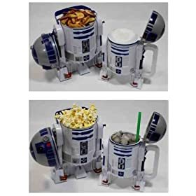 Disney Star Wars R2-D2 Plastic Popcorn Bucket &amp; Drink Stein Set - Disney Parks Exclusive &amp; Limited Availability - R2D2