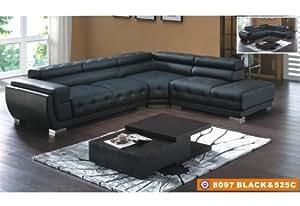 American Eagle Furniture 8097 Black Tufted