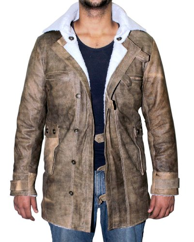 Bane Real Leather Coat Jacket (M)