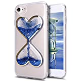 iPhone 7 Plus Case,Case for iPhone 7 Plus,ikasus Flowing Liquid Floating Hourglasses Love Heart Bling Glitter Sparkle Quicksand Clear Soft Gel TPU Rubber Case Cover for iPhone 7 Plus 5.5