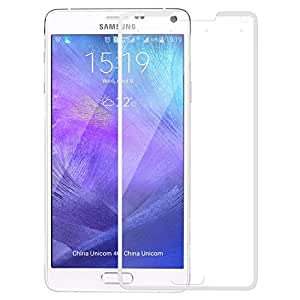SNOOGG Pack of 7 Samsung Galaxy Note 4 Full Body Tempered Glass Screen Protector [ Full Body Edge to Edge ] [ Anti Scratch ] [ 2.5D Round Edge] [HD View] – White