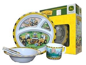 John Deere-Danny Dozer 5-Piece Children's Melamine Tableware Set by R&D Enterprises/Motorhead Products