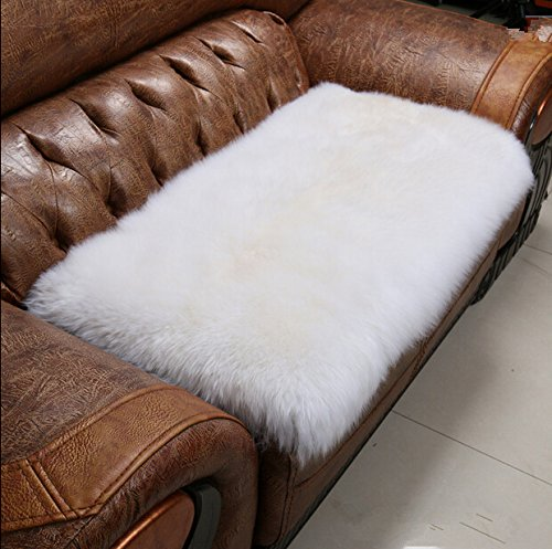 Sheepskin Rug Square: Ustide Luxury Australian Sheepskin Rug Pad White Wool Rug