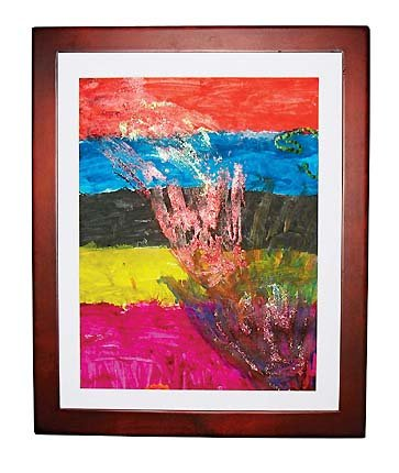 Li'l Davinci 12 x 18 inch Art Frame, Cherry (Picture Frames Lil Davinci compare prices)