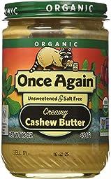 Once Again Nut Butters (C) Cashew Btr, Og, 16-Ounce