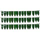 Sai Harshini Plastic Decorative Mango Leaves Door Hanging (92 Cm X 6 Cm X 13 Cm, Green, Pack Of 3)