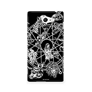 Motivatebox - Sony Xperia M2 S50H Back Cover - Sunsigns Zodiac Polycarbonate 3D Hard case protective back cover. Premium Quality designer Printed 3D Matte finish hard case back cover.