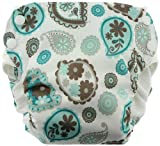 Blueberry Side Snap Simplex All in One Diapers, Paisley, Large