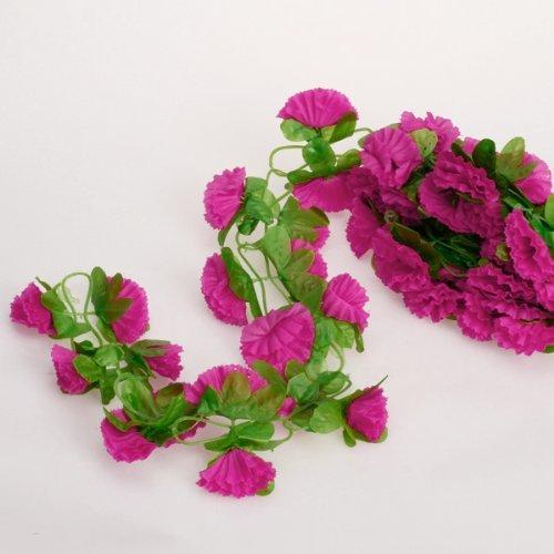 Toogoo r plante grimpante de fleurs artificielles pour la for Plante amelys