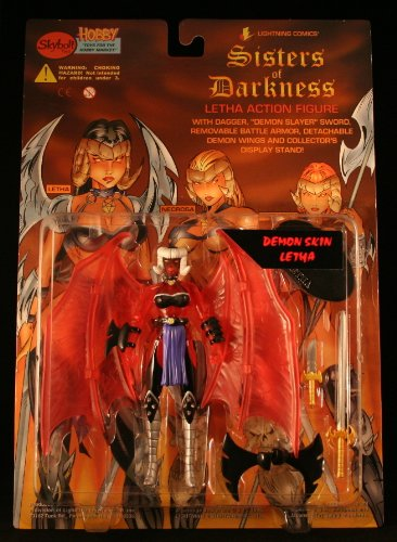 "6"" Demon Skin Letha Action Figure - Lightning Comics' Sisters of Darkness Letha Action Figure"