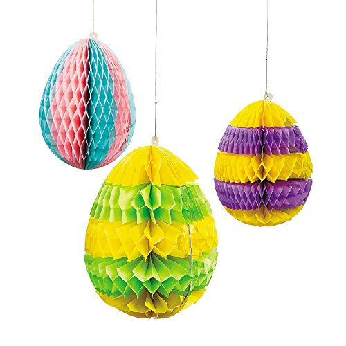 Easter Egg Silhouette Hanging Decorations - Easter & Party Decorations