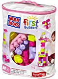 Mega Bloks First Builders Big Building Bag, 80-Piece (Pink)