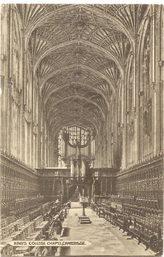 1905 Vintage Postcard Interior of King's College