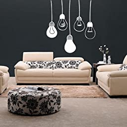 Wall Decal Decor Decals Art Chandelier Lamp Light Decoration Curl Candle Design Mural Bedroom (M991) by DecorWallDecals
