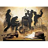 Jazzin' Quintet Music Theme Metal Wall Art