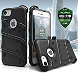 Zizo [Bolt Series]  iPhone 7 Case, with [iPhone 7 Screen Protector] Kickstand [Military Grade Drop Tested] for the iPhone 7, iPhone 6, and iPhone 6s