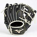 MIZUNO(ミズノ) ベースボール グローブ 硬式用 グローバルエリート トレーニング 内野手用1 ブラック/シルバー