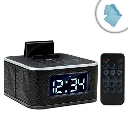gogroove universal bluetooth clock radio with nfc charging stand fm radio. Black Bedroom Furniture Sets. Home Design Ideas