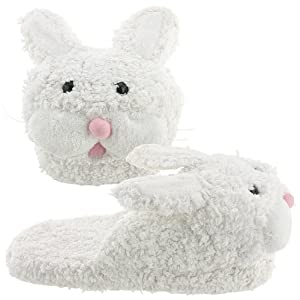 White Bunny Slippers for Women