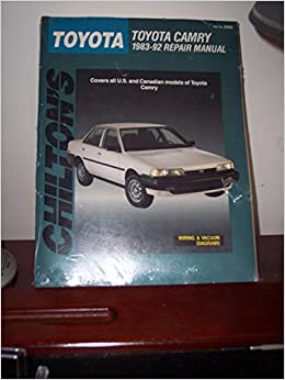 chilton 39 s toyota toyota camry 1983 92 repair manual chilton 39 s total car care dean f. Black Bedroom Furniture Sets. Home Design Ideas