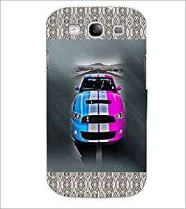 PrintDhaba Car D-2482 Back Case Cover for SAMSUNG GALAXY S3 (Multi-Coloured)