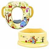 Disney Winnie the Pooh Potty Seat, Step Stool, Splash Guard and Potty Hook Bundle Set