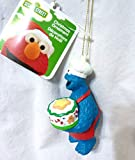 """3.75"""" Sesame Street Cookie Monster Decorative Character Christmas Ornament"""
