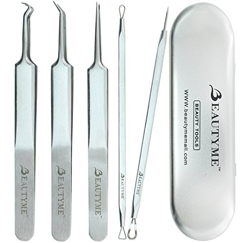 Blackhead Remover Kit Pimple Comedone Acne Extractor Removal Tool-Treatment for Blemish,Whitehead Popping,Zit Removing for Risk Free Nose Face Skin with Metal Case,Surgical Grade (Wis On compare prices)