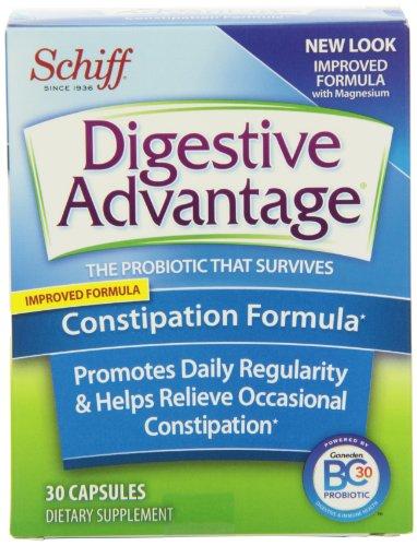 Digestive Advantage Constipation Formula Probiotics Supplement, 30 Count (Pack of 2) (Schiff Digestive Advantage compare prices)
